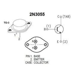 Diagrama pines 2N3055 (pinout)