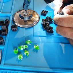 Reparación de teclas en teclado gamer