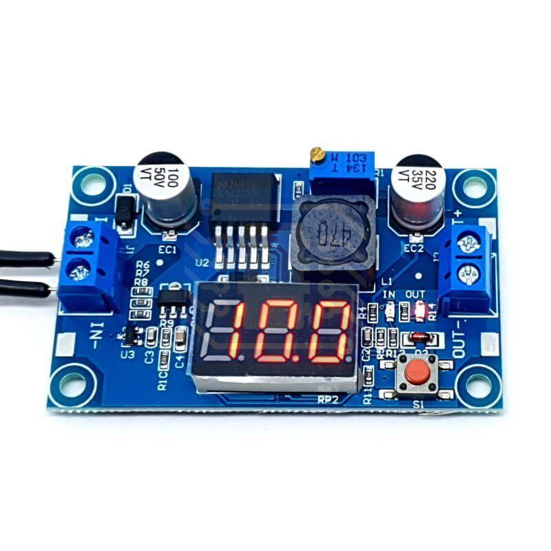Fuente de poder de voltaje ajustable basada en LM2596