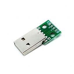 Adaptador USB tipo A macho a DIP para prototipos
