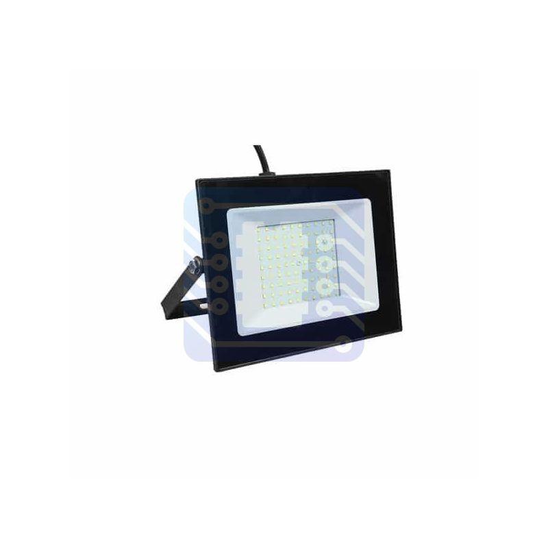 Luminaria LED de 100W tipo proyector para exterior blanco cálido