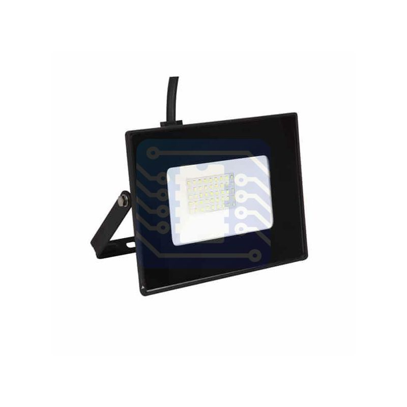 Luminaria LED de 50W tipo proyector color blanco cálido para exteriores