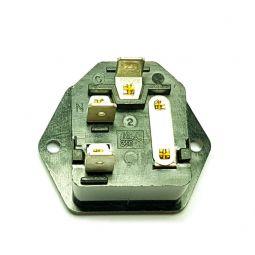 Conector de poder con fusible para equipo